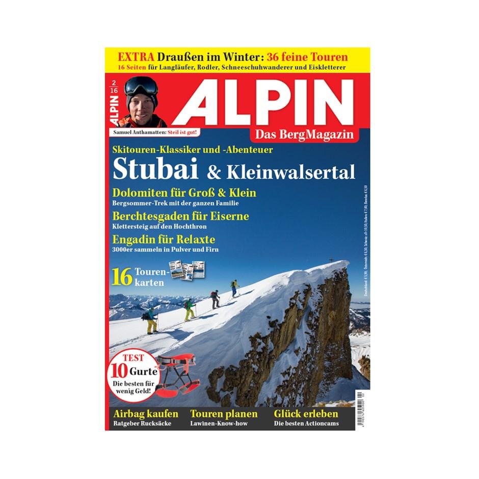 ALPIN 02/2016: Skitouren-Klassiker und -Abenteuer