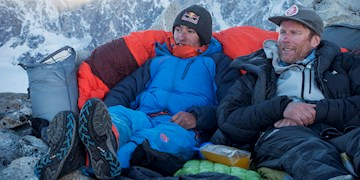 David Lama und Conrad Anker: High Spirits am Lunag Ri