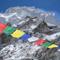 Makalu-Gipfel (8485m) vom Basislager (5700m) auf dem Chago Gletscher
