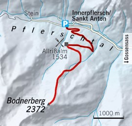 Tourentipp, Skitourentipp, Skitour, Bodnerberg, Pflerschtal, Eisacktal
