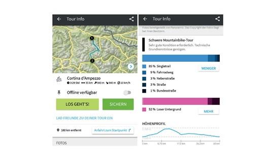 Komoot, Navigations, App, Smartphone, GPS