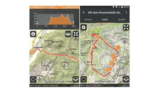 Alpenvereinaktiv-App, Navigations, App, Smartphone, GPS