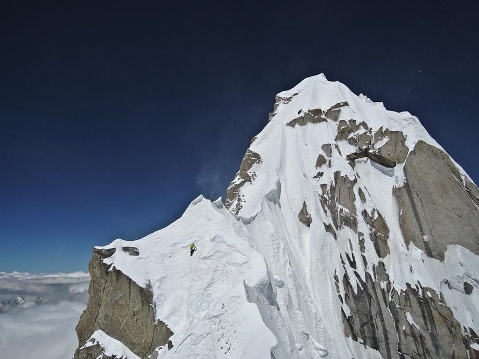 Im Aufstieg zum Kunyang Chhish im Karakorum