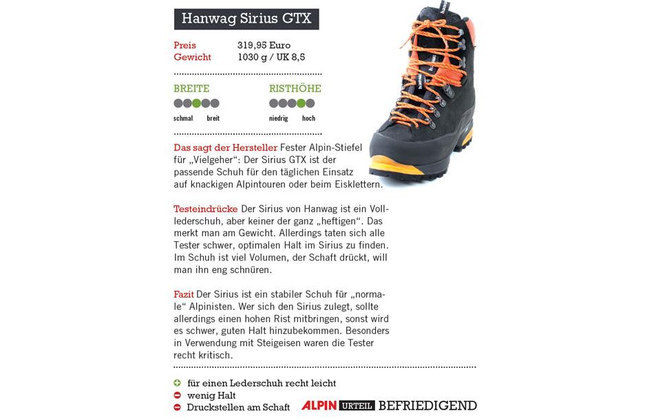 ALPIN 082014: Produkttest Steigeisenfeste Bergschuhe