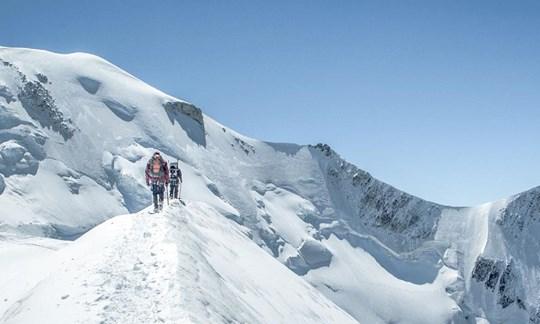 Cosmiques-Route am Mont Blanc