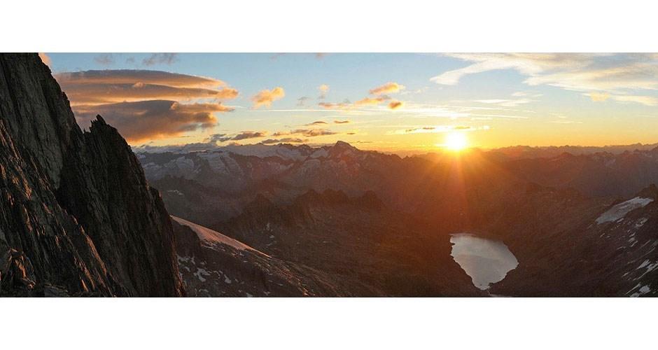 Sonnenaufgang am Oberaarhorn