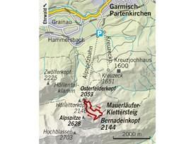 Tourentipp, Bernadeinkopf, Klettersteig