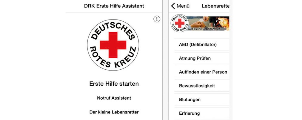 """App """"Erste Hilfe"""" des Deutschen Roten Kreuzes"""