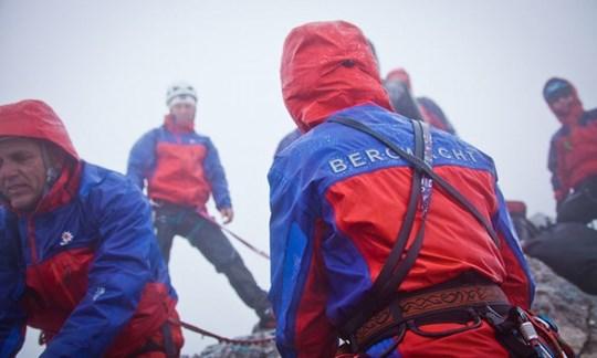 Rückt bei jedem Wetter aus: Die Bergrettung.