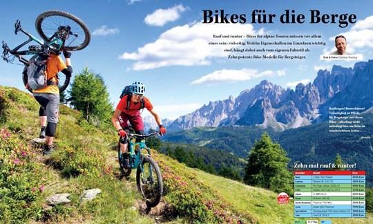 Die Aufmacher-Doppelseite unseres großen Mountainbike-Tests in unserer Mai-Ausgabe.