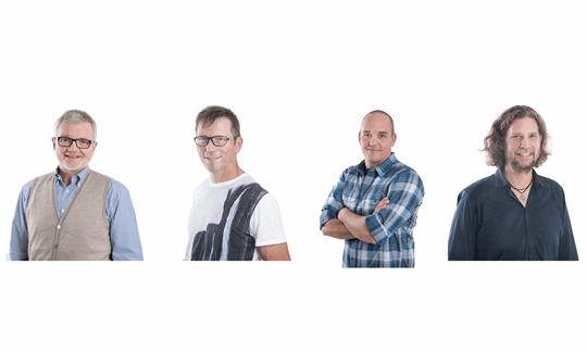 Für Euch in Friedrichshafen: Bene, Olaf, Andreas, Holger (v.l.).