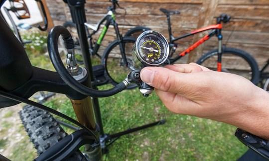 Test-Beginn heißt Bike-Setup!