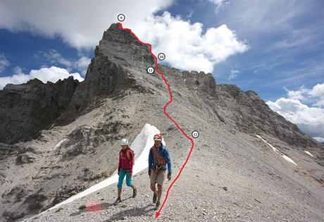 Bergtour im Karwendel: Die Kaltwasserkarspitze