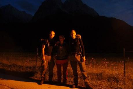 Zugspitze bei Nacht