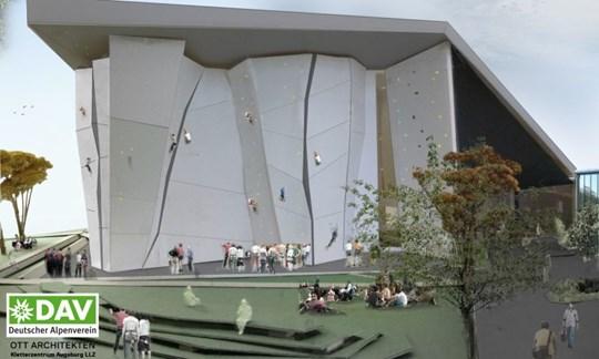 Der Neubau soll rund 4400 Quadratmeter Kletterfläche bieten und wird auch Freizeitkletterern offen stehen.