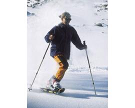 Macht auch mit Tempo Spaß: Schneeschuhlaufen.