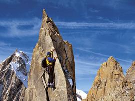Die Kletterei am Teufelsgrat wird vor allem durch die weltabgeschiedene Umgebung charakterisiert.