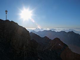 Die Zugspitze (2962 m): Nach wie vor ein ernst zu nehmendes Gipfelziel