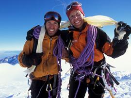 Glücklich: Stefan Glowacz (li) und Robert Jasper