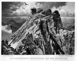 Der Gipfel der Zugspitze um 1900. Bild: Wikipedia.