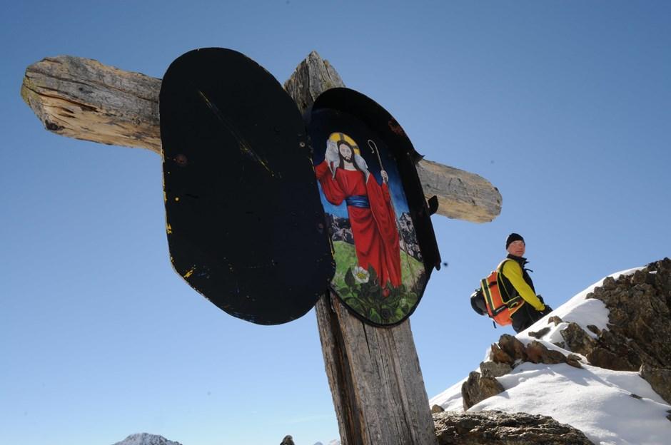 Gipfelkreuz am Kreuzjoch
