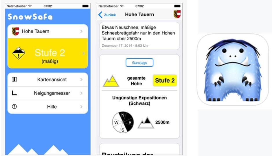 Snow Safe Lawinenwarn-App