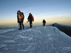 Zieleinlauf: Glücklich, wer frühmorgens als erster den Gipfel erreicht.