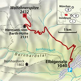 Die Tour zur Wolfebnerspitze.