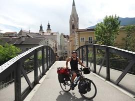 Fand das Radfahren echt besonders: Wendelin Reichl.