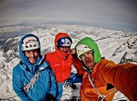 Können miteinander: Peter Ortner, David Lama und Hansjörg Auer (v. li. / Foto: hansjoerg-auer.at).
