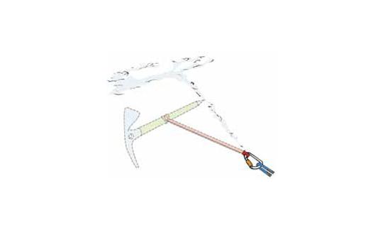 Der T-Anker hält je nach Schneebeschaffenheit sogar Vorstiegsstürze.