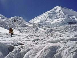 Gehen am Gletscher