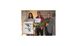 DER Wetterexperte für Höhenbergsteiger: Dr. Karl Gabl, hier mit Gerlinde und Ralf bei einer Preisverleihung.