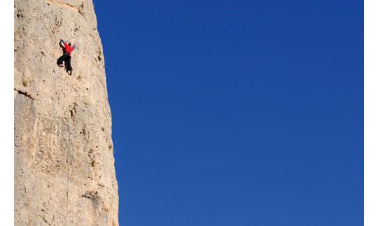 Wer vorsteigt, soll schon ein erfahrener Kletterer sein.