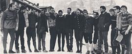 Geschlossenheit am Eiger: Die internationale Mannschaft, die 1966 an der Winter-Direttissima beteiligt war.