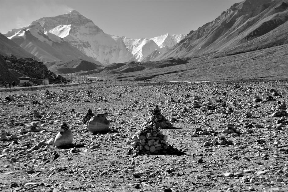 Steinhaufen am Everest Basecamp