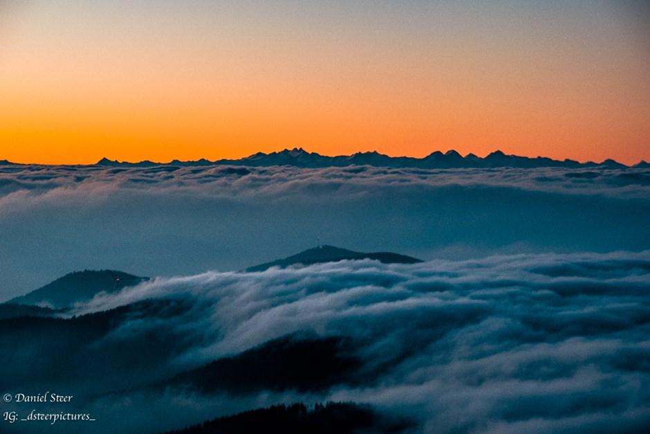 Sonnenaufgang am Belchen