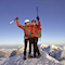 Der erste Gipfeljubel am Matterhorn