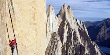 Alex Huber am Cerro Torre in Patagonien.