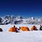 Das idyllisch gelegene Hochlager 1 (6300m)