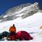 Hochlager 3 im weiten Sattel des Makalu La (7400m)