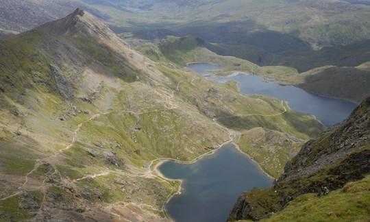 Der Snowdonia Nationalpark in Wales.