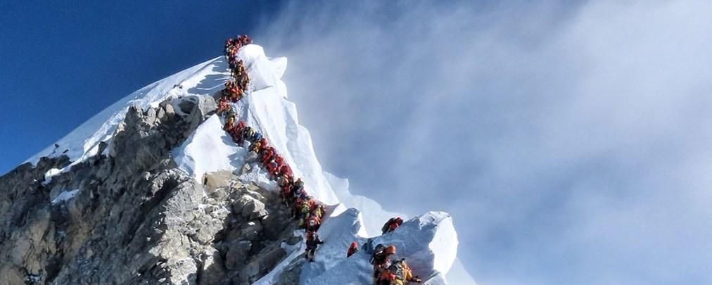 Mächtig was los am Everest