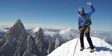 Christina on top of Cerro Torre.