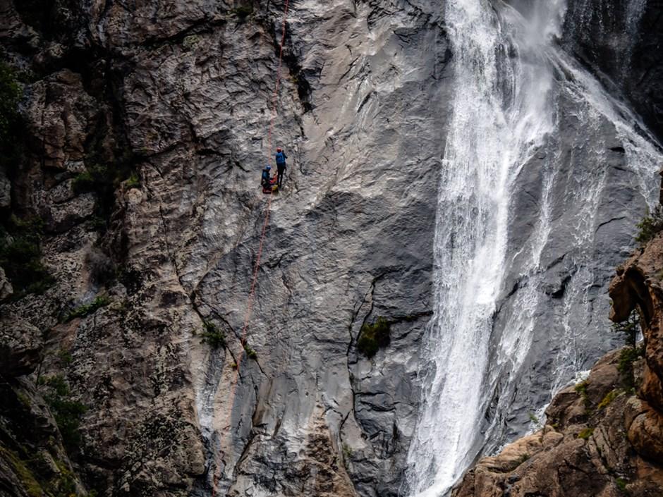 Canyoning Falconaia Wasserfall