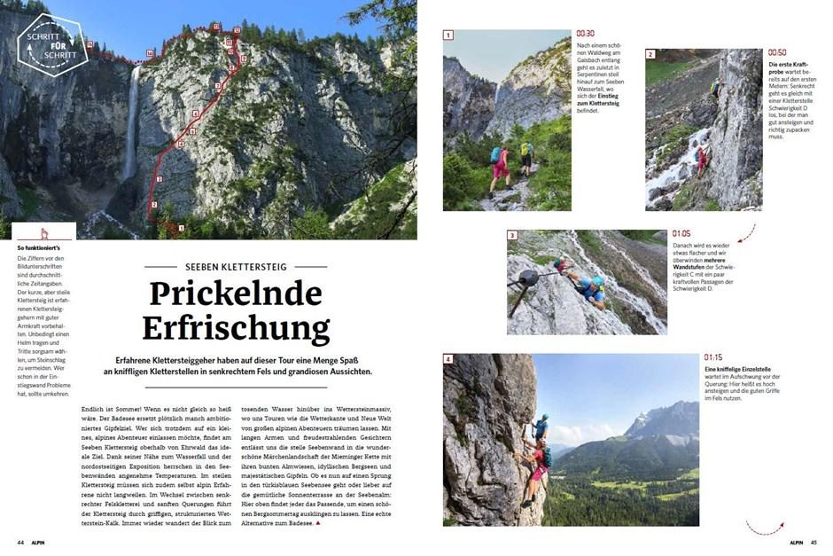 Schritt für Schritt: Seeben Klettersteig