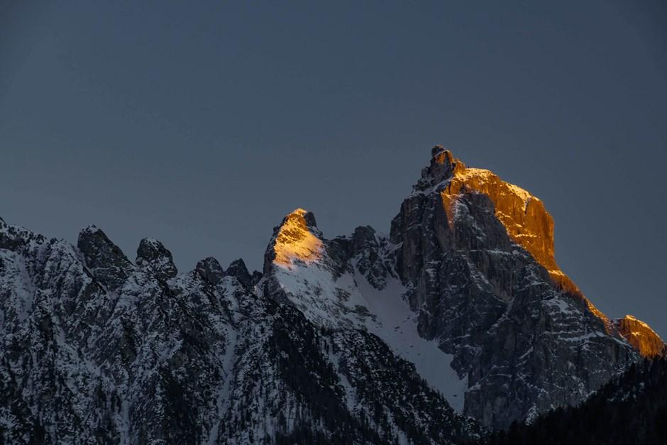 Brennede Gipfel in Südtirol