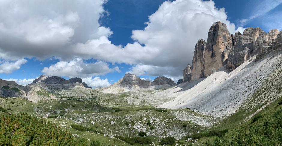 Drei Zinnen Panorama Blick