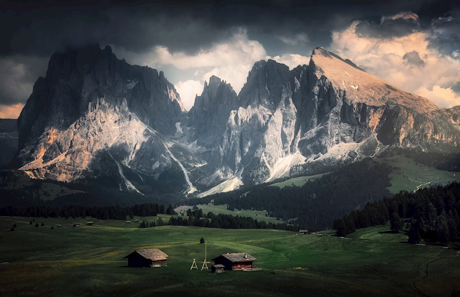 Beautiful Alpe di Siusi Scenery
