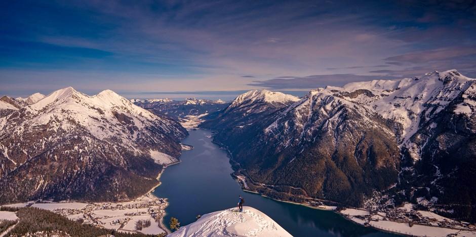 Die Berge des Achensee- von oben..
